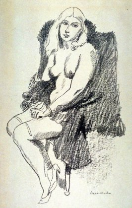Nude seated in a chair