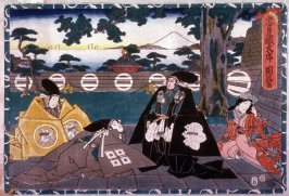 Act 1 from the Storehouse of Loyalty (Chushingura) (first image from a complete set of twelve)