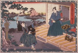 Act 2 from the Storehouse of Loyalty (Chushingura) (second image from a complete set of twelve)