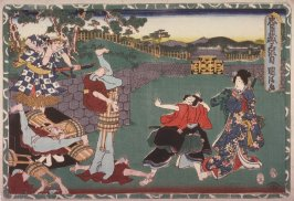 Act 3 from the Storehouse of Loyalty (Chushingura) (third image from a complete set of twelve)