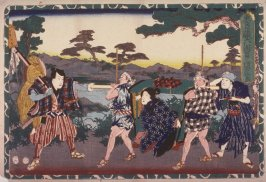 Act 6 from the Storehouse of Loyalty (Chushingura) (sixth image from a complete set of twelve)