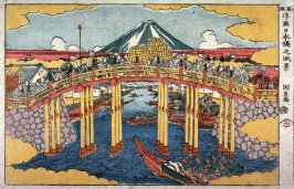 View of Nihon Bridge (Nihombashi no fukei) from the series New Peerspective Pictures (Shimpan ukie)