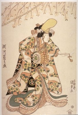 Segawa Kikunojo V as the temple dancer in the play Dojoji
