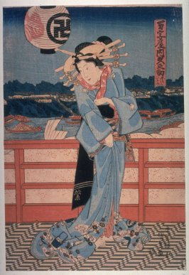 The courtesan Hisanosuka of Manjiya