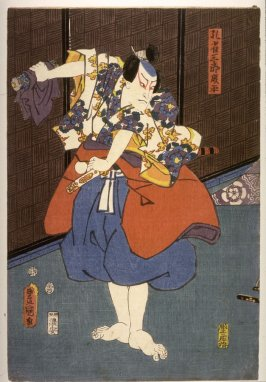 Actor as Kujaku Saburo Narihira, panel of a polyptych