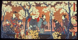 Flowers: Night Cherry Blossoms in the Yoshiwara District (Hana), from the series An Eastern Genji in Snow, Moon, and Flowers (Azuma genji setsugekka no uchi)