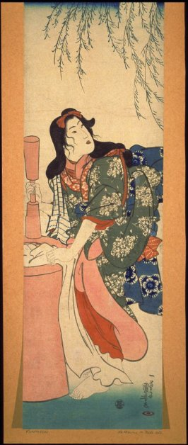 Woman Pounding Cloth by Moonlight