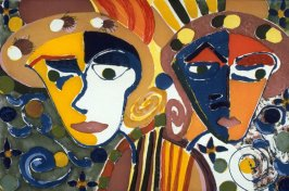 Paulette and Karla (left panel of triptych)