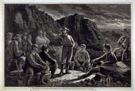 The Strike in the Coal Mines - page from Harper's Weekly
