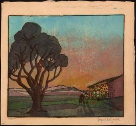 Untitled (Sunset with Tree)
