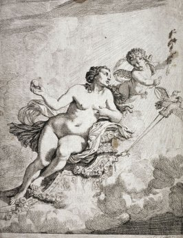 Venus ascending with Cupid