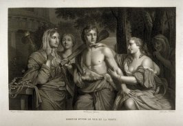 Hercules entre le Vice et la Vertu...(Hercules, between vice and virtue)...sixteenth plate in the book... Le Musée royal (Paris: P. Didot, l'ainé, 1818), vol. 2