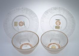 Pair of finger bowls with matching saucers
