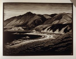 Hills and the Sea…Malibu Coast, plate IX in the book, California Hills… (Los Angeles: Bruce McCallister, 1931)