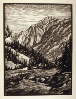 Gray Back…San Bernardino Mountains, plate XII in the book, California Hills… (Los Angeles: Bruce McCallister, 1931)
