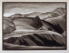 Old Ranch...Big Sur, plate XIII in the book, California Hills… (Los Angeles: Bruce McCallister, 1931)