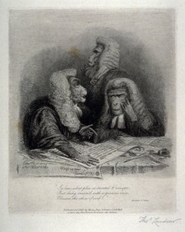 The Legal Consultation, from the series 'Monkeyana or Men in Miniature'
