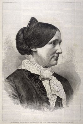 Mrs. Rutherford B. Hayes, Wife of the President of the United States - p.208 Harper's Weekly 17 March 1877