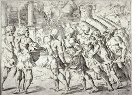 The Fall of Jericho, from the series of etchings Biblical Scenes, after the frescoes by Raphael in the Vatican Loggia