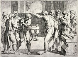 David Anointed by Samuel, from the series of etchings Biblical Scenes, after the frescoes by Raphael in the Vatican Loggia