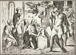 The Adoration of the Shepherds, from the series of etchings Biblical Scenes, after the frescoes by Raphael in the Vatican Loggia