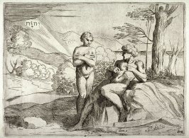 The Creation of Adam and Eve, from the series of etchings Biblical Scenes, after the frescoes by Raphael in the Vatican Loggia