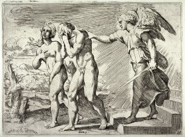 The Expulsion of Adam and Eve, from the series of etchings Biblical Scenes, after the frescoes by Raphael in the Vatican Loggia
