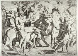 Jacob Returning to His Father Isaac, from the series of etchings Biblical Scenes, after the frescoes by Raphael in the Vatican Loggia
