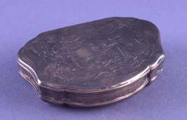 Snuff box with hunting scene