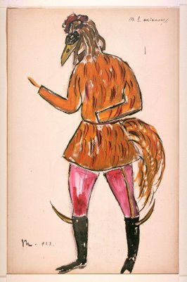 Le Renard: costume sketch for Le Coq