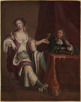 A Courtesan Drinking with a Gentleman