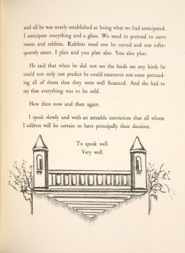 Untitled, pg. 19, in the book A Village: Are You Ready Yet Not Yet, A Play in Four Acts by Gertrude Stein (Paris: Simon Kahnweiler, 1928)