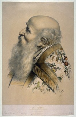 Portrait of a Prelate, after the drawing byCharles Brocky, No. 6 from a series of lithographed studies, La Figure (Goupil & Vibert, Éditeurs)