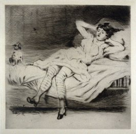 Plate from L'Assommoir (Woman Reclining on Bed)