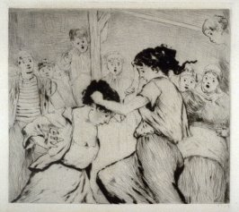 Plate from L'Assommoir (Woman Fighting)