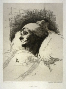 Victoire Tranchart on her Deathbed, from L'Eau-forte en 1877