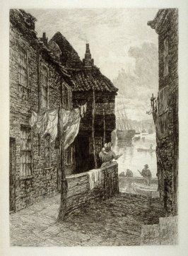 The tin Ghaut, Whitby, plate 13 in the book, The Etcher (London: Williams and Norgate, 1879), vol. 1