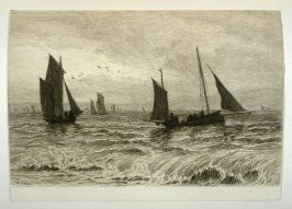 Fishing-Boats off Hastings, plate 12 in the book, The Etcher (London: Sampson Low…, 1880), vol. 2 [bound in same volume as vol. 1, 1879]