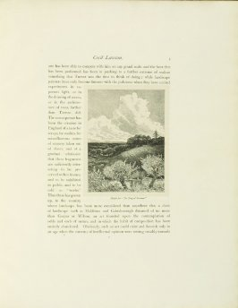 """""""Sketch for 'The Song of Summer',"""" pg. 5, in the book Cecil Lawson: A Memoir by Edmund W. Gosse (London: The Fine Art Society, 1883)"""
