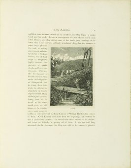 """""""Sketch for 'Evening',"""" pg. 11, in the book Cecil Lawson: A Memoir by Edmund W. Gosse (London: The Fine Art Society, 1883)"""