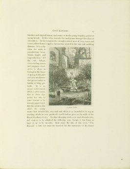 """A Chelsea Garden,"" pg. 19, in the book Cecil Lawson: A Memoir by Edmund W. Gosse (London: The Fine Art Society, 1883)"
