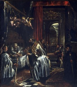 St. Ambrose Receiving the Last Sacrament from St. Honorius