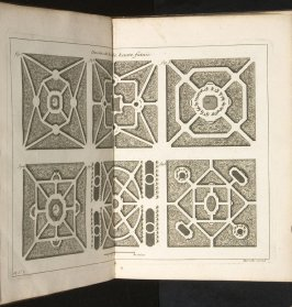 Desseins[sic] de bois de haute futaie- figs. 1,2,3,4,5.6, third plate after page 58 in the book La théorie et la pratique du jardinage (Paris: Jean Mariette, 1709)