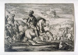 One from a Set of eight battle scenes, small