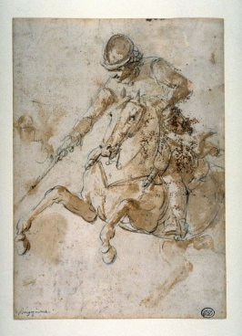 Study of a Mounted Soldier