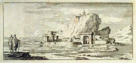 [Landscape with fortified rock]