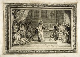 Scenes from the passion of Jesus Christ, from [Title from spine, in English on spine] Works of Sebastien Le Clerc, Vol. II . [This is a privately made collection, including: Les Actions glorieuses de S. A. S. Charles Duc de Lorraine &c. en Hongrie, Transy