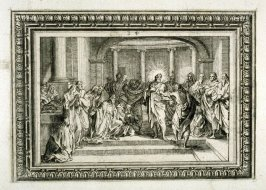 Scenes from the passion of Jesus Christ ,from [Title from spine, in English on spine] Works of Sebastien Le Clerc, Vol. II . [This is a privately made collection, including: Les Actions glorieuses de S. A. S. Charles Duc de Lorraine &c. en Hongrie, Transy