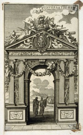Conversations ,from [Title from spine, in English on spine] Works of Sebastien Le Clerc, Vol. II . [This is a privately made collection, including: Les Actions glorieuses de S. A. S. Charles Duc de Lorraine &c. en Hongrie, Transylvanie, &c. ([no place, no