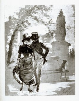 Romance buds in the Park, from Le Chat Noir